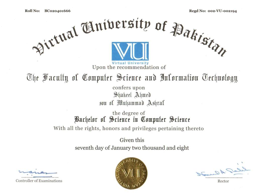 Degree Program Virtual University Degree Program