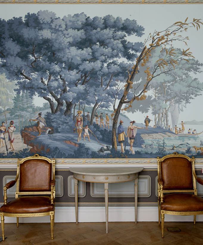 Colonial mural wallpaper for home joy studio design for Mural history