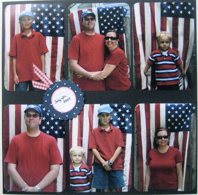 Use red, white and blue to create an easy photo booth for your picnic or party