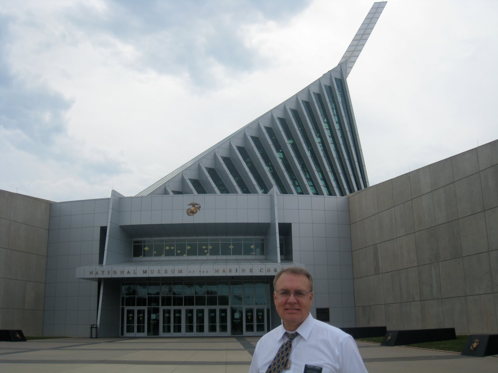 This Is The Front Of National Museum Marine Corp In Quantico Its Architecture Represents Iwo Jima Where Marines Prevailed