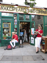 Outside at Shakespeare and Company