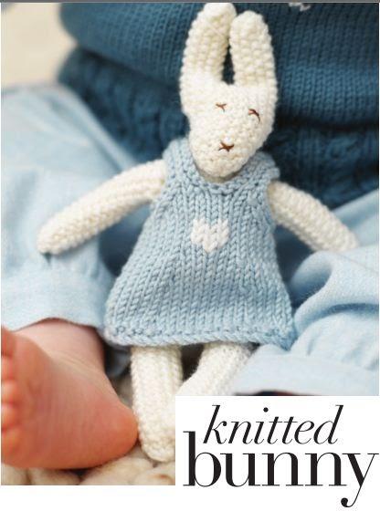 Designer Knits: Knitted bunny knitting pattern