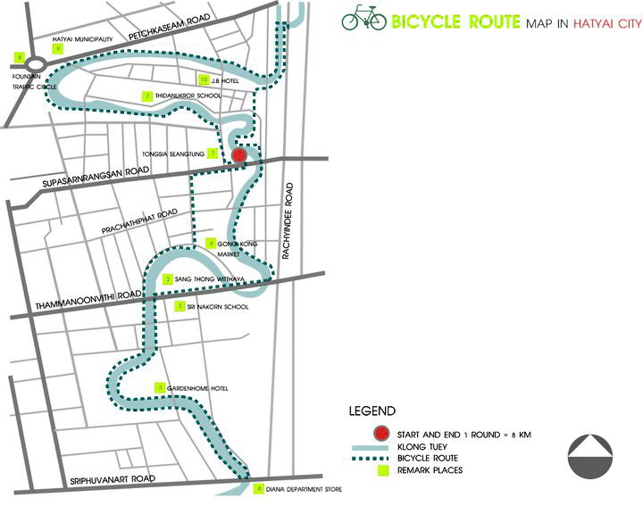 แผนที่โครงการถนนปลอดภัยต้นแบบ8กิโลเมตร