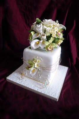 Lyphines Award Winning Wedding Cake In Squires Kitchen Exhibition 2009