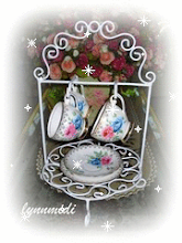 Wrought Iron Cups and  Saucer Hanger