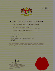 Pendaftaran Kontraktor Bumiputera