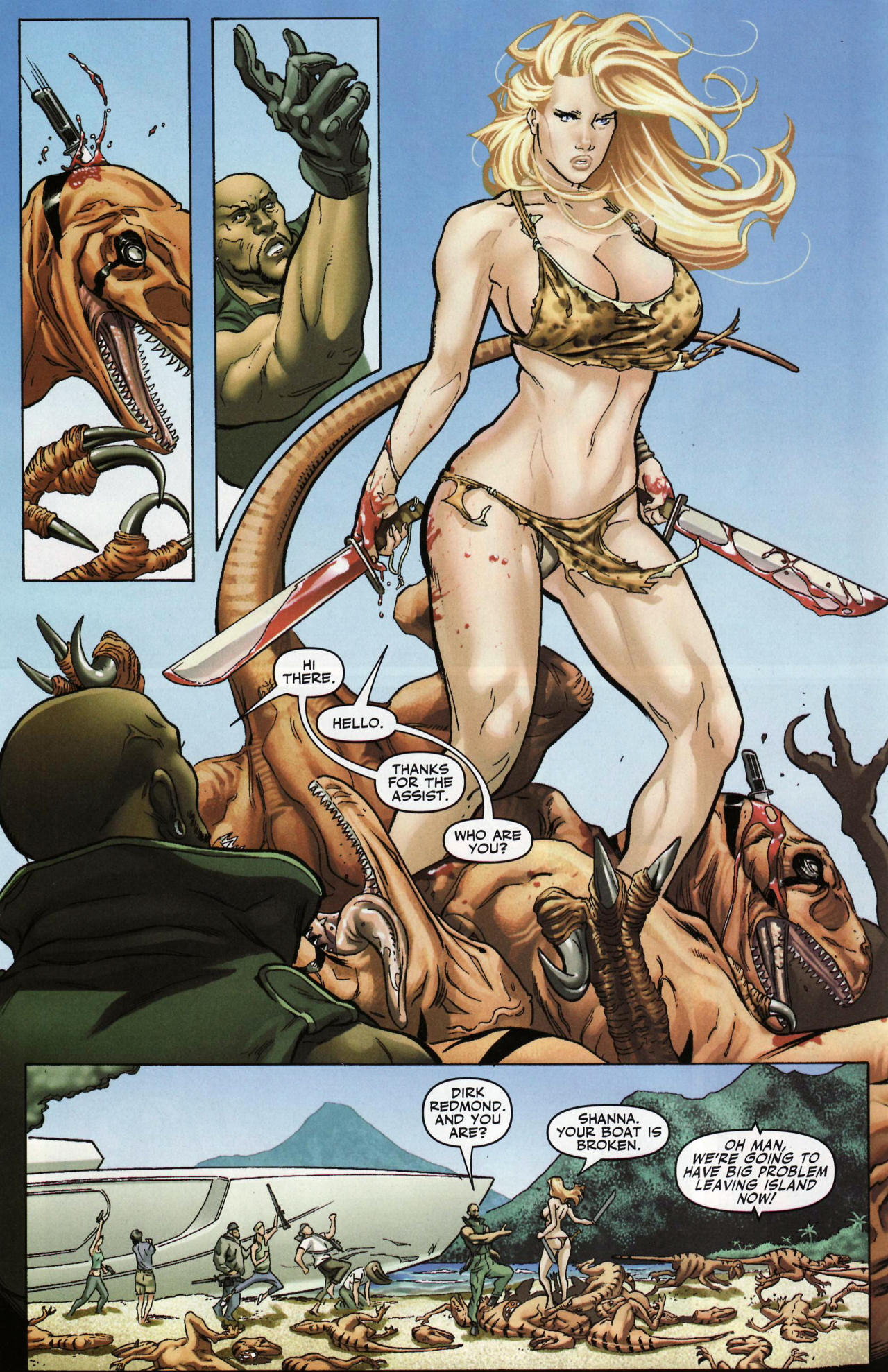 Read online Shanna the She-Devil: Survival of the Fittest comic -  Issue #1 - 12