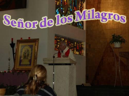 MISA EN HONOR A NUESTRO SEÑOR DE LOS MILAGROS 0CTUBRE 2008