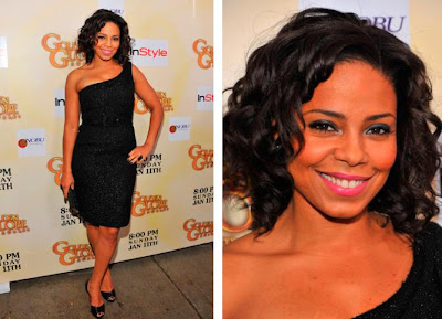 Celebrity Sanaa Lathan curly haircuts