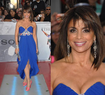 Site Blogspot   Long Hairstyles on Paula Abdul In Temperly London  Cute Dress  But She Should Have Gone