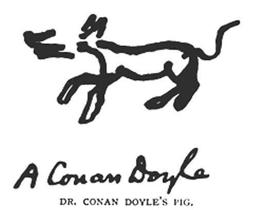 Sir Arthur Conan Doyle's Pig