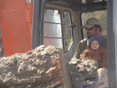 logan helping daddy at work