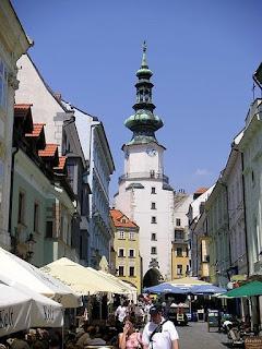 street in Bratislava