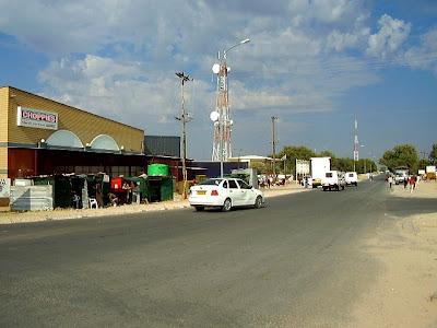 main street of Gantsi town