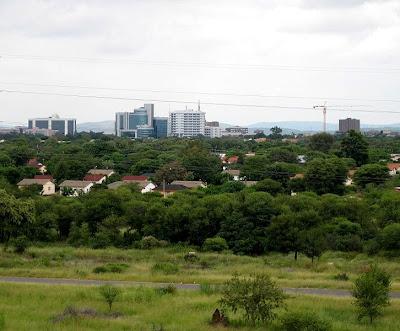 Sky line of Gaborone