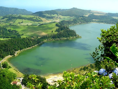 Lagoon in island of Sao Miguel, Azores
