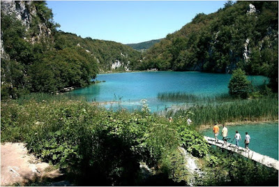 view of Plitvice lakes