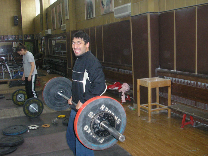 Wrestling World Champion (Greco) Nikolay Gergov working out in Slavia (BG), me in background