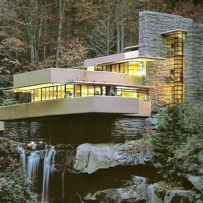 Lo arquitect nico casa de la cascada frank lloyd wright for Casa sulla cascata frank lloyd wright