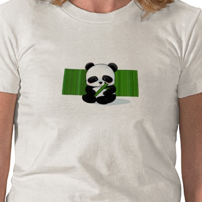 baby panda t-shirt with bamboo