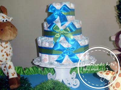 chá de bebê verde azul