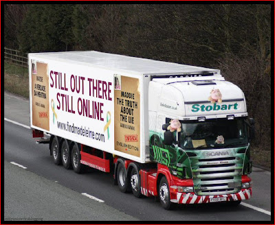 Official Find Madeleine FB page takes over the Eddie Stobart page Online