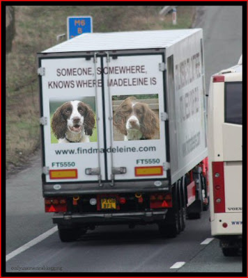 Official Find Madeleine FB page takes over the Eddie Stobart page Dogs