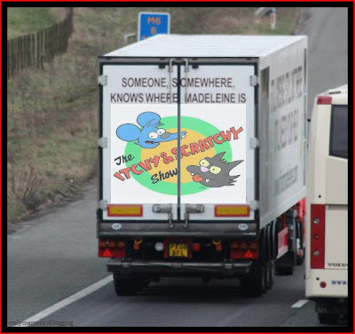Official Find Madeleine FB page takes over the Eddie Stobart page Itchy_and_scratchy_show