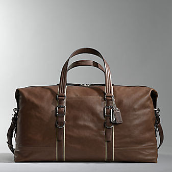 Coach Leather Luggage Harrison Medium Leather Carryall