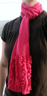 Jersey Knit Ruffle Scarf