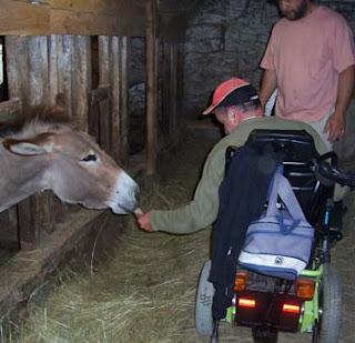 Personne handicapée à la ferme