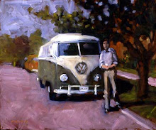 Jim and beloved van 18x24 oil