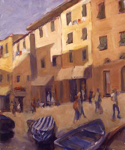 "Vernazza ""Main Street"" 24x18 oil"