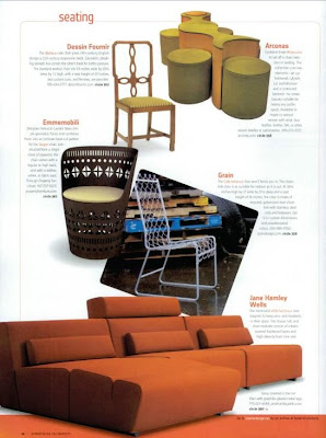 Our Friends At Iacoli McAllister Spotted Cafe America Chair In The November Issue Of Interior Design Above Is Page Layout That We Found Online