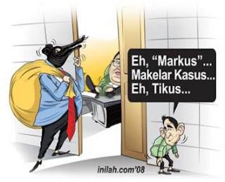 Realitas Kasus di Indonesia, cicak vs buaya, mafia peradilan, makelar kasus