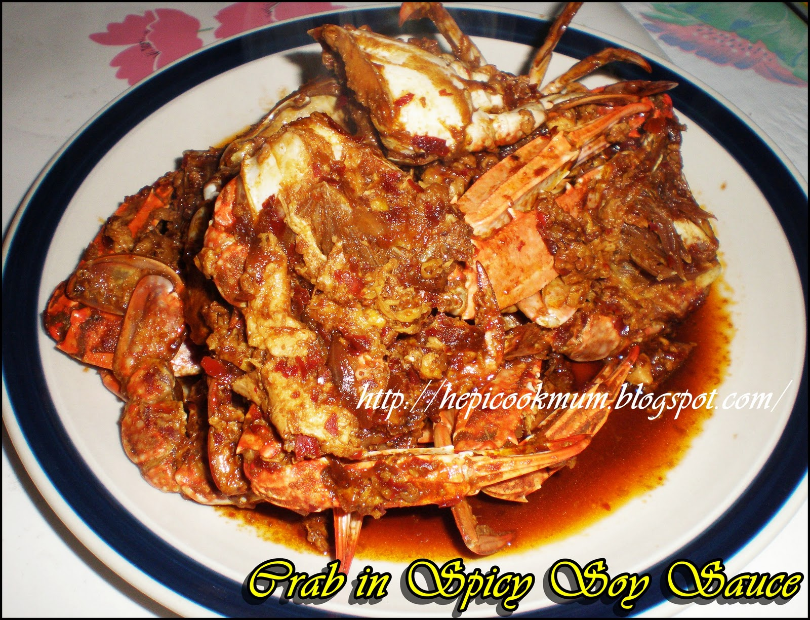 Hepi Cook Mum: Crab in Spicy Soy Sauce