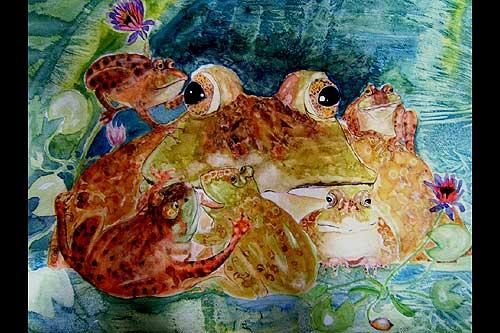 [irish+bog+frog+painting]