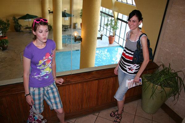swim under the wall indoor/outdoor pool
