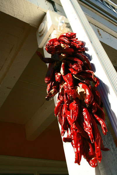 red chile peppers (chill-y papers is how it's pronounced in NM)