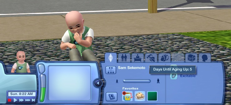 Mod na dłuższe życie sima Aging Mod by potatoehead na Mod The Sims.