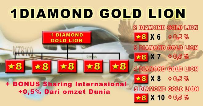 1 diamond gold lion