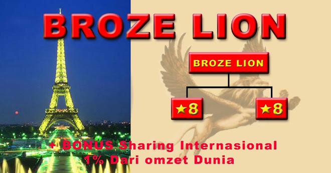 broze lion