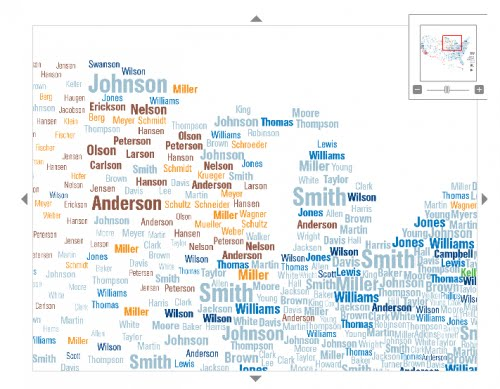 Ive Mentioned Before Im A Sucker For Cool Data Presentation Check Out These Maps That Use Census To Show The Most Popular Surnames In US And