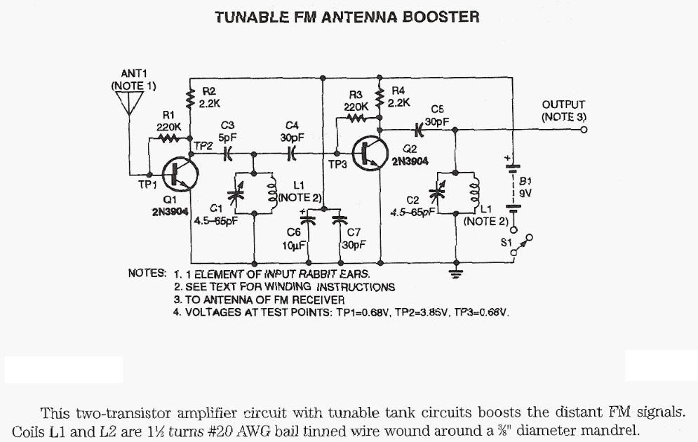 am fm radio antenna booster wiring diagrams