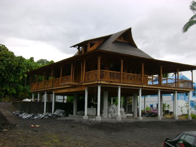 Big island building bamboo homes for Large house builders
