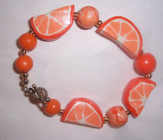 orange bracelet polymer clay image picture photo