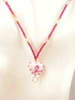 breast cancer beaded lanyard image photo picture