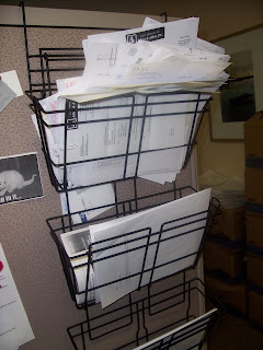bin overloaded with mail