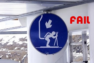 funny ski sign image