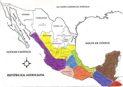 morado occidente de mexico amarillo norte azul claro centro de